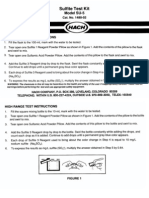 Sulfite Test Kit Manual, Model SU-5, Drop Count Titration Kit 1480-02