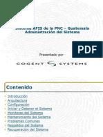 GUAT AFIS System Administration Trainig