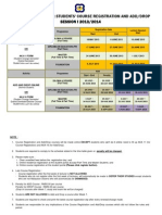 Timetable for Senior Students Course Registration and Adddrop Session i 2013 2014