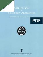 Archivo de Filología Aragnesa 68
