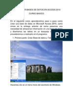 Como Crear Bases de Datos en Access 2010