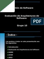 Evaluacion de Arquitecturas