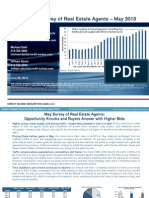 Credit Suisse Monthly Survey of Real Estate Agents Results May 2013