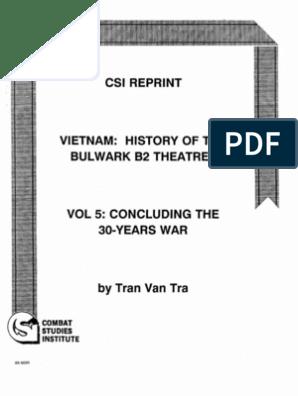 Vietnam-History of Bulwark B2 Theatre by Tran Van Tra