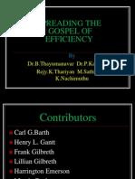 2-Spreading the Gospel of Efficiency