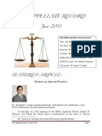 The Appellate Record - June 2013