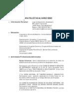 Curriculum Vitae María  Felícitas Álvarez Ceno