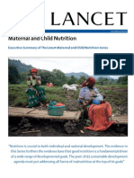The Lancet's Maternal and Child Nutrition Series, Executive Summary