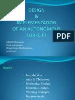 Autonomous Forklift presentation.