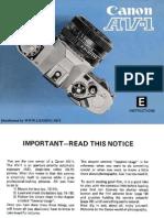 Manual Canon AV-1