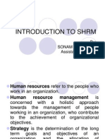 Introduction to Shrm