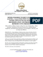 2013-06-06 Miner Endorses Womens Equality Agenda