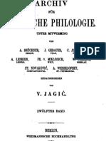 Archiv für slavische Philologie 12