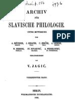 Archiv für slavische Philologie 14
