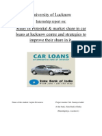 University of Lucknow report on car loan