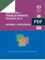 Encuesta de Trabajo Infantil 2010 Informe de Resultados