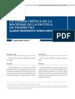 Osorio, Sergio Néstor - La teoría crítica
