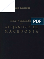 1 140267235 Vida y Hazanas de Alejandro de Macedonia Biblioteca Clasica Gredos Vol 1 PDF