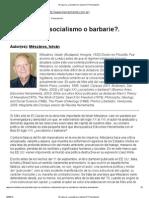 Mészáros, I. - El siglo xxi ¿socialismo o barbarie. Presentación