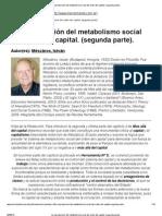 Mészáros, I. - La reproducción del metabolismo social del orden del capital. (segunda parte)