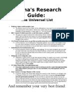 Research Guide - GEMUN Prep Camp 2013