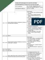 PROGRAMA    1º Jornadas de Psicoterapia en los Servicios de Salud _2013_