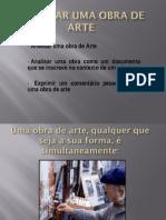 ANALISAR UMA OBRA DE ARTE  9 AO MÉDIO