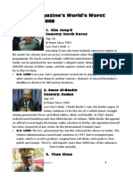 2008 parade magazine worlds worst dictators