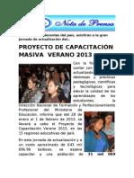 Nota Capacitacion 2013