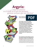 Entrevista a Argyris