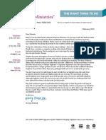 CJF Ministries February 2013 Newsletter