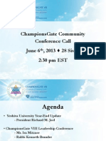 Championsgate VIII June 6 Conference Call Slides