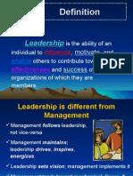 What is Leadership 10.9.2008