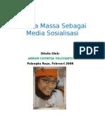 MEDIA MASSA SEBAGAI MEDIA SOSIALISASI