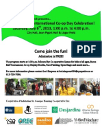 International Co-op Day Picnic, July 6th