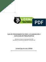 Guía de Procedimientos para la Elaboración y Ejecución de Presupuestos
