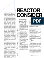 Reactor Design Scale Up