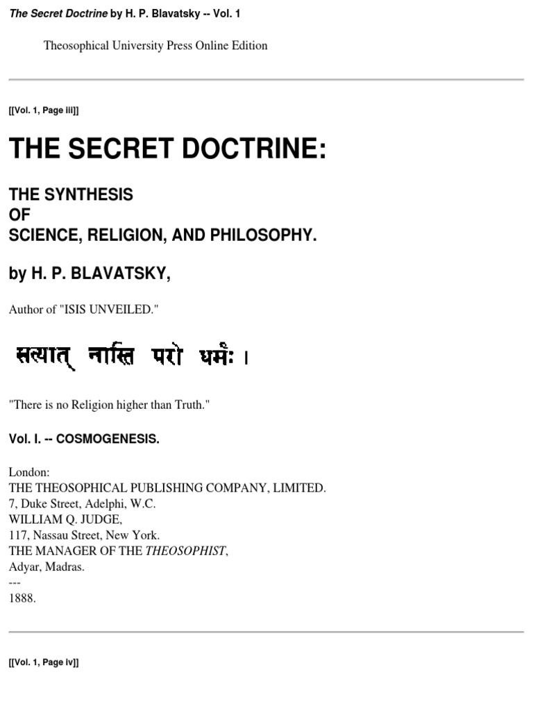 the secret doctrine book 1 pdf theosophy western esotericism