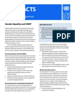 Fast Facts on Gender Equality at UNDP - July 2011