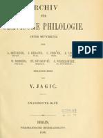 Archiv für slavische Philologie 20