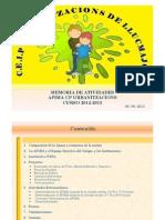 Curso 2012-2013 Memoria Anual de Atividades APIMA