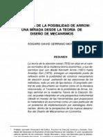 El Teorema de La Posibilidad de Arrow