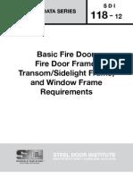 SDI_118 - Standard Steel Doors and Frames