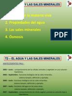 El Agua y Las Sales Minerales