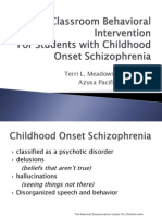 Classroom Behavioral Intervention PPT Slides