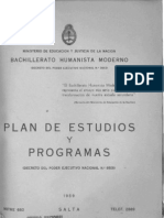Bachillerato Humanista Plan