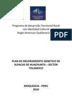 Plan de Mejoramiento Genetico en Alpacas-Tolamoco II Corregido