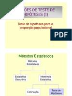 Aula 9 - Teste de Hipoteses i a12013