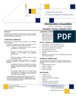 Procedures Douanieres Version 2011