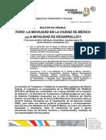 BoletindePrensa Foro La Movilidad